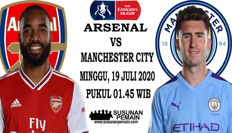 Prediksi Arsenal Vs Manchester City 19 Juli 2020
