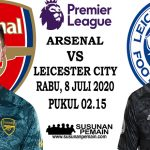 Prediksi Arsenal Vs Leicester City City 8 Juli 2020