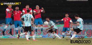 Hasil Bola Argentina vs Chile Euro 2020: Messi Gagal Menang