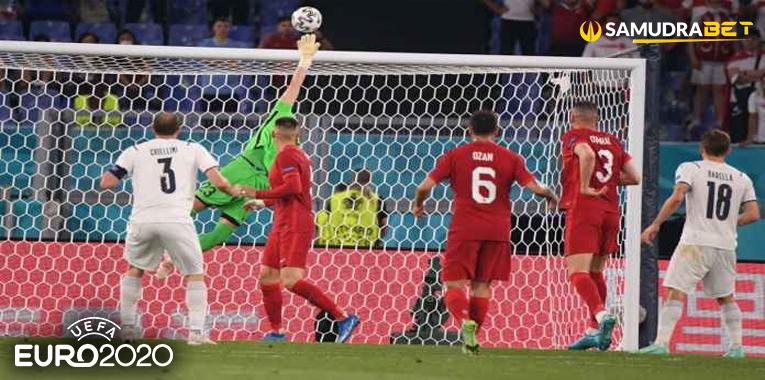 Hasil Bola Euro 2020: Italia Lakukan 14 Kali Tembakan ke Gawang Turki