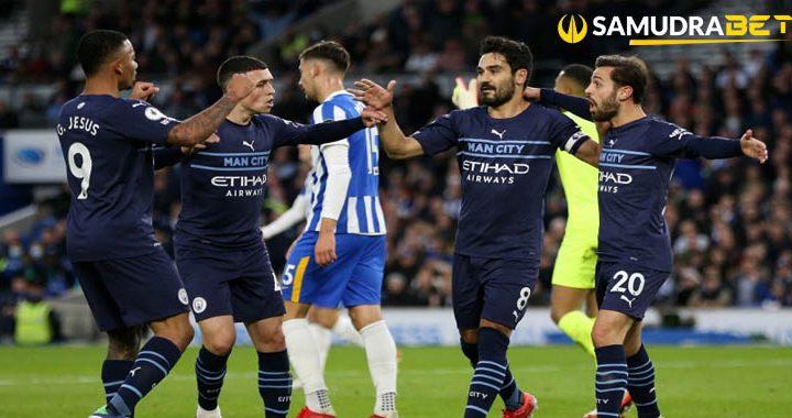 Brighton 1 4 Man City City Kembali Mengejar Chelsea Puncak Klasmen Sementara